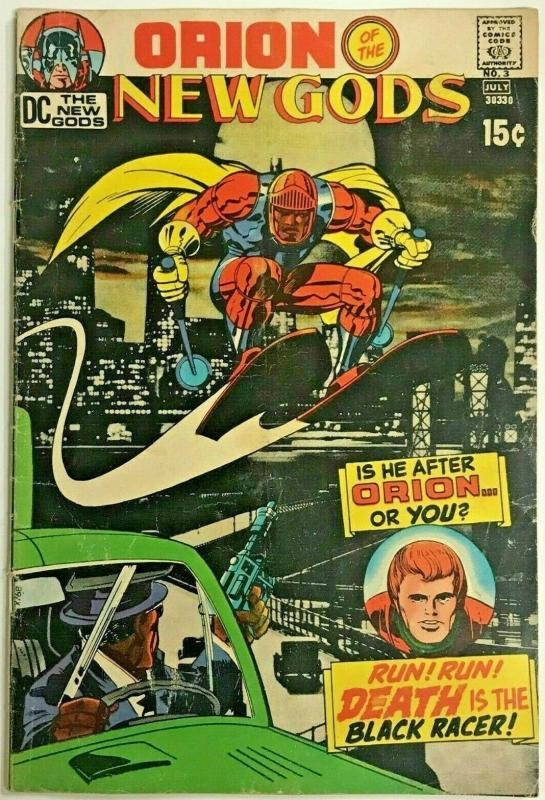 NEW GODS#3 VG/FN 1971 JACK KIRBY DC  BRONZE AGE COMICS