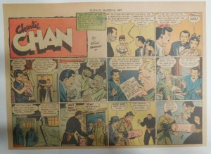 Charlie Chan by Alfred Andriola from 3/8/1942 Half Page Size! 11 x 15 Inches