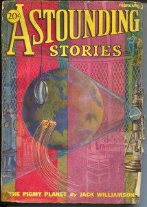 Astounding Stories 2/1932-Clayton-early sci-fi pulp-Jack Williamson-FR