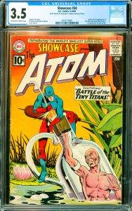 Showcase #34 CGC Graded 3.5 Origin & 1st appearance of the Silver Age Atom (R...