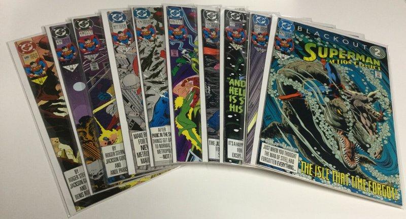 Action Comics 671 672 673 674 675 676 677 678 679 680 Nm Near Mint DC Comics
