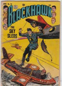Blackhawk #74 (Mar-54) FR/GD Low-Grade Black Hawk, Chop Chop, Olaf, Pierre,Ch...