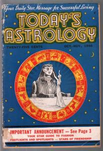 Today's Astrology 10/1946-Egyptology cover-strange & unusual-G