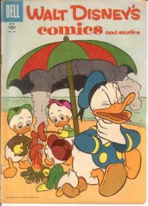 WALT DISNEYS COMICS & STORIES 201 VG June 1957 COMICS BOOK