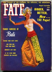 FATE-1951-Aug-PULP-Mystery-Exploitation-Strange-Unusual-Unknown-TRANCE DANCERS o