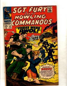 Sgt. Fury & His Howling Commandos # 42 FN/VF Marvel Silver Age Comic Book JF11