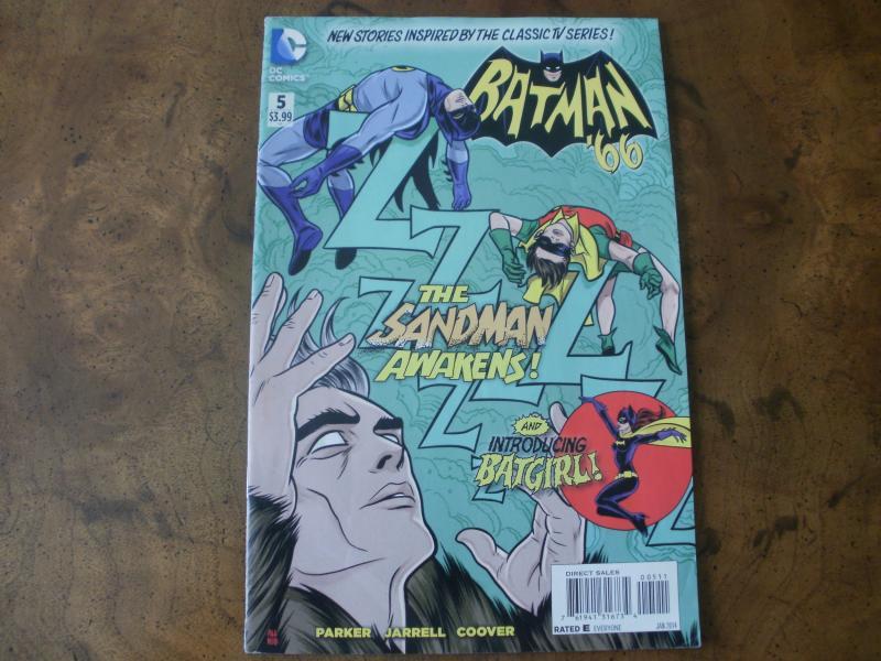 Batman '66 #5 (DC Comics) Classic TV Series Sandman Batgirl