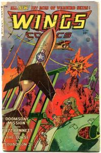 Wings Comics #120 1953- Golden Age War- Fiction House- Buzz Bennett G