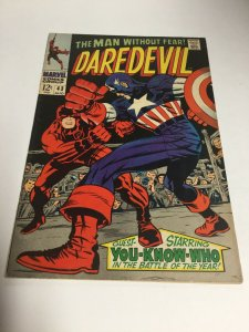 Daredevil 43 Coverless Missing Back Cover Marvel Comics Silver Age