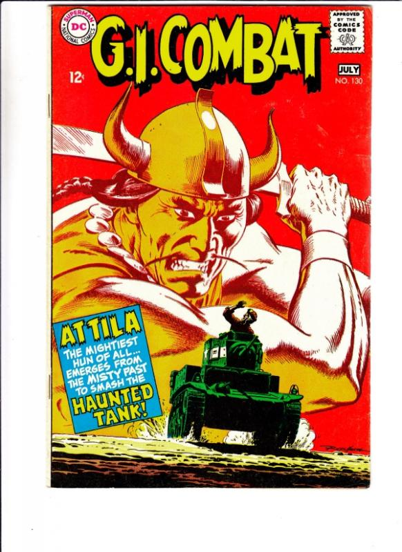 G.I. Combat #130 (Jul-68) FN/VF Mid-High-Grade The Haunted Tank