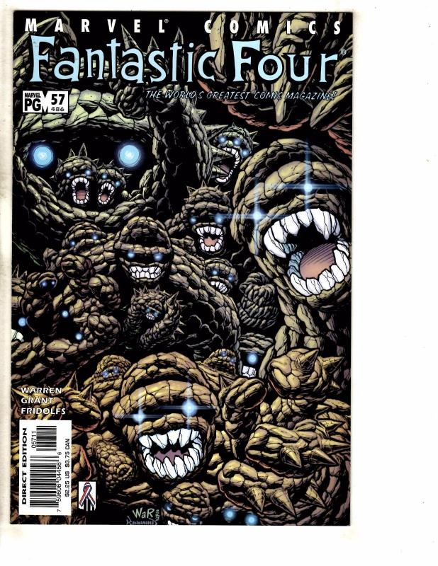 10 Fantastic Four Marvel Comics # 477 478 479 480 481 482 483 484 485 486 TW53