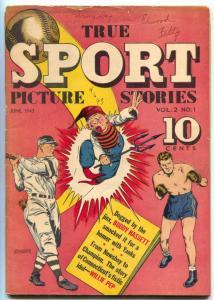 True Sport Picture Stories Vol. 2 #1 Buddy Hassett- Willie Pep- Yankees