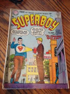 Superboy 60 G/VG- (DC October, 1957) Deteched centerfold