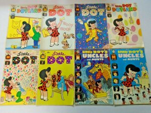 Silver Age Harvey Little Dot Comic Lot 8 Different 4.0 VG