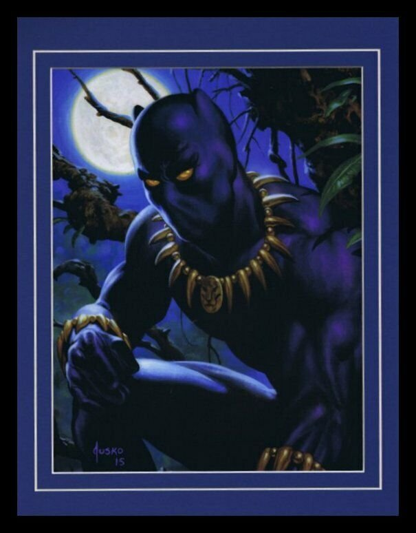 Black Panther Avengers Framed 11x14 Marvel Masterpieces Poster Display