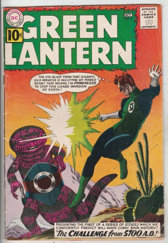 Green Lantern #8 (Oct-61) VG/FN+ Mid-Grade Green Lantern