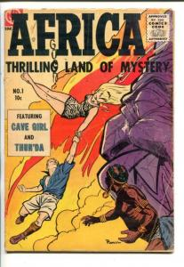 AFRICA #1-1955-ME-BOB POWELL-CAVE GIRL-THUN'DA-vg minus