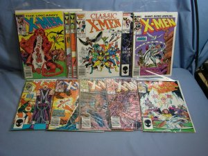11 Vintage Bronze & Copper Age Marvel X-MEN Comic Books Uncanny & Classic Issues