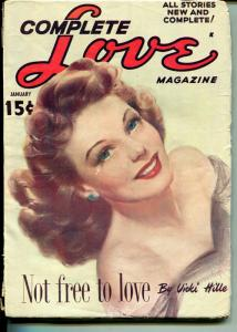 Complete Love  1/1950-Ace-pin-up style portrait cover-romantic pulp fun-VG+