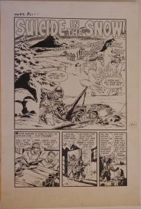 JOHN BELFI original art, TRUE WAR 5, pg 26 27 28 29 30, 1952, 5 pgs, Korean War