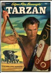 TARZAN #38-1952-DELL-BURROUGHS-MARSH-LEX BARKER PHOTO COVER-vf