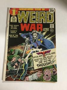 Weird War Tales 1 Fn- Fine- 5.5 DC Comics