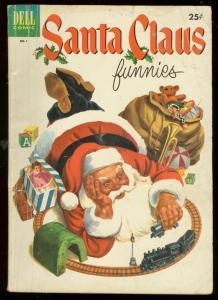 SANTA CLAUS FUNNIES #1 1952-DELL GIANT-CHRISTMAS CAROL VG-