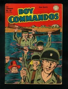 BOY COMMANDOS #10 1945-HITLER SPLASH PANEL-DC COMICS-  vg+ VG+