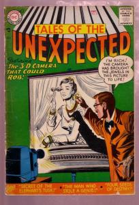 TALES OF THE UNEXPECTED #8 1956- MYSTERY ADVENTURE--DC VG