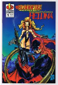 BLOODFIRE / HELLINA #1, VF, Femme Fatale, Variant, 1995, more indies in store