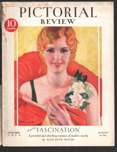 Pictorial Review 11/1929-10¢ cover price-McClelland Barclay Good Girl art por...
