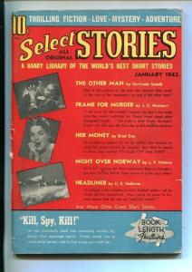 SELECT STORIES-#1-JAN 1942-PULP FICTION-SOUTHERN STATES PEDIGREE-fn