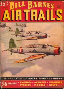 Bill Barnes Air Trails 8/1936-hero pulp-George L Eaton-VG
