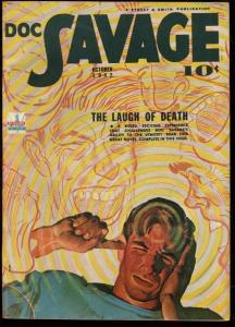 DOC SAVAGE 1942 OCT-PULP LAUGH OF DEATH STREET & SMITH VF