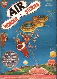 Air Wonder Stories 2/1930-Gernsback-Frank R Paul-sci-fi pulp thrills-fn