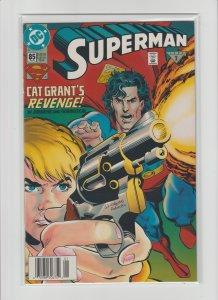 Superman Lot of 10 Comics (1993-1995) High Grade, Many Newsstand Editions!!