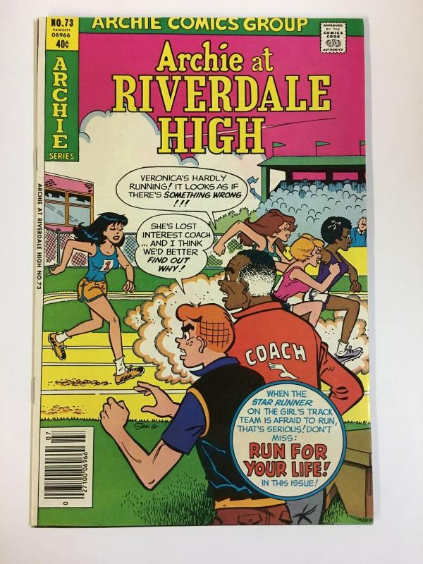 ARCHIE AT RIVERDALE HIGH (1972-1987)73 VF-NM   Jul 1980 COMICS BOOK