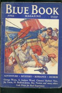 BLUE BOOK PULP-APRIL 1932-AUSTIN BRIGGS-H BEDFORD JONES-good G