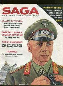 SAGA MAGAZINE MAY 1961-ERWIN ROMMEL-CHEESECAKE-FN/VF