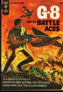 G-8 AND HIS BATTLE ACES #1 GOLD KEY 1966 PULP HERO '30S VG-