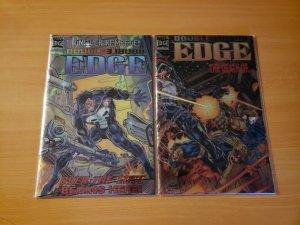 Punisher Double Edge 1-2 Alpha & Omega Complete Set Run! ~ NEAR MINT NM ~ 1995