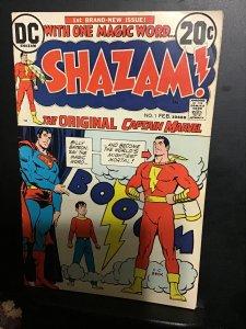 Shazam! #1 (1973) first issue Captain Marvel key! Mid high grade FN/VF Wow!