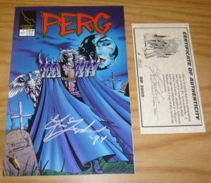 Perg #1 VF/NM signed by zyskowski with COA (#546 of 3000) lightning comics