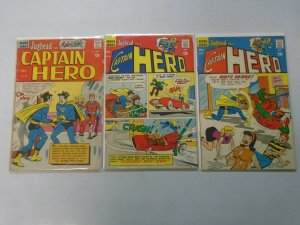 Jughead as Captain Hero 3 different issues avg 3.0 GD VG (1966-67)