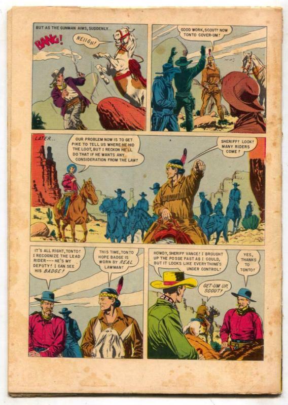 Tonto #15 1954-Dell Western-Lone Ranger's companion G/VG