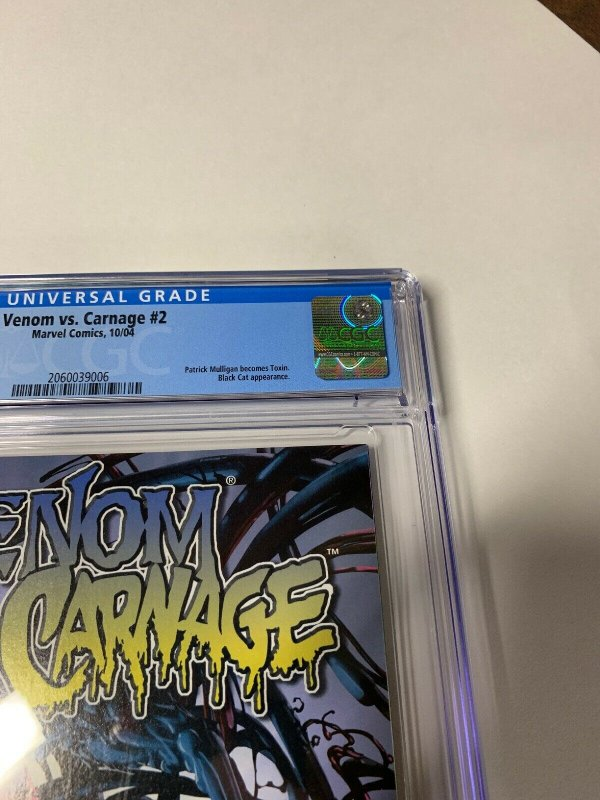 Venom Vs Versus Carnage #2 CGC 9.8 graded 1st appearance Of Toxin