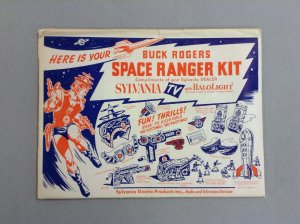 1952 Buck Rogers Space Ranger Kit Complete with Original Envelope! Never Used!