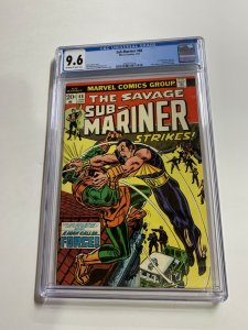 The Sub-mariner Prince Namor 68 Cgc 9.6 Ow/w Pages Marvel Bronze Age