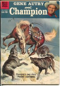 Gene Autry and Champion #119 1958-Dell-Savitt cover-title change-Final issue-FN+