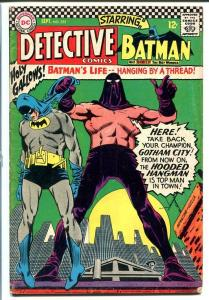 DETECTIVE #355-DC COMIC-HOODED HANGMAN COVER! VG
